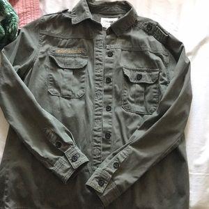 Faux Army Jacket